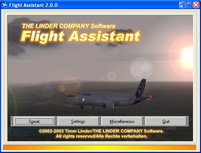 Screenshot: Flight Assistant